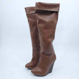 Colin Stuart Over The Knee Wedge Platform Boot 10B
